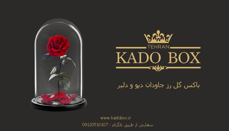 باکس گل رز جاودان دیو و دلبر
