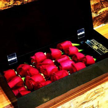جعبه گل رز خوابیده