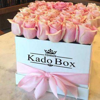 جعبه گل رز ولنتاین