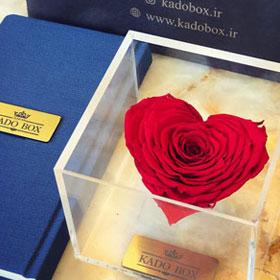 باکس گل رز جاودان قلب