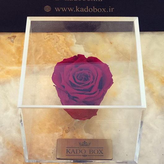 باکس گل رز قرمز جاودان