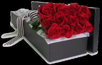 باکس گل رز 12 شاخه در آمل